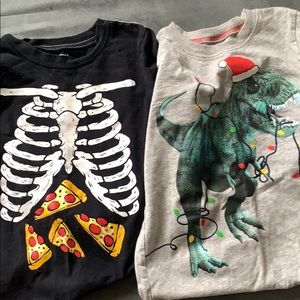 Carters boy 7 Christmas Halloween seasonal tshirts